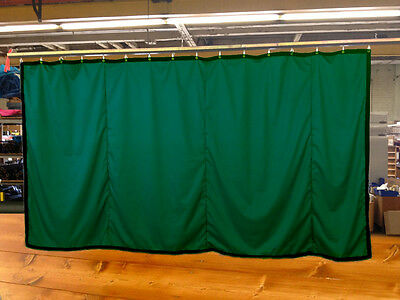 Hunter Green Curtain/Stage Backdrop/Partition, Non-FR, 9 H x 15 W