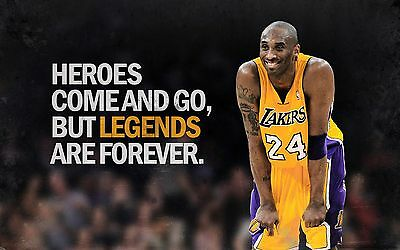 A3/A4 Size -  HEROES NBA BASKETBALL KOBE BRYANT LOS ANGELES LAKERS  POSTER # 29