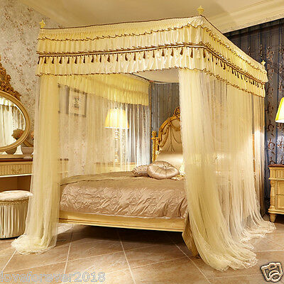 room bed canopy mosquito net bed curtain with four corners tubes queen