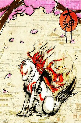 A3/A4 Size - OKAMI PS3 GAME  ACTION VIDEO GAME  ART PRINT POSTER  # 29