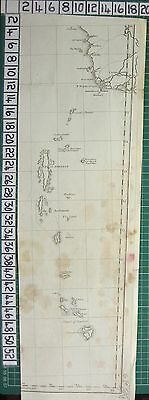 1782 Antique (Part) Map ~ East Indies Great Little Andaman Island Sayer Kitchin