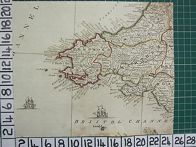 1782 Antique Map Pembrokeshire Carmarthen Wales Robert Sayer ~ Thomas Kitchin