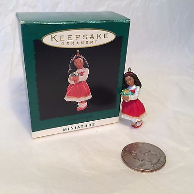 "Hallmark Christmas Miniature ""A Child's Gifts"" Ornament 1995"