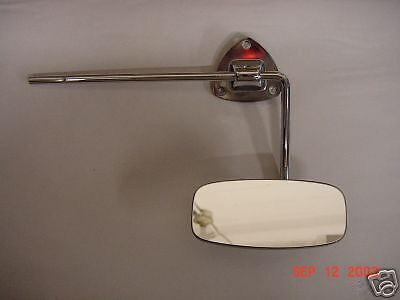 VW oval Beetle interior rear view mirror new 1953 - 1957 with visor arm rare htf