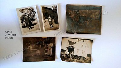 ANTIQUE ORIGINAL PHOTOS - Lot of 5 Photo -Early 1900's Turn of the Century