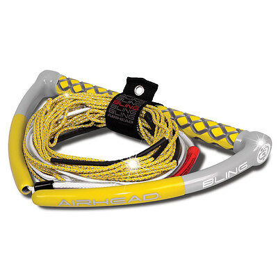 AIRHEAD BLING Spectra Wakeboard Rope - 75' 5-Section - Yellow AHWR-12BL NEW