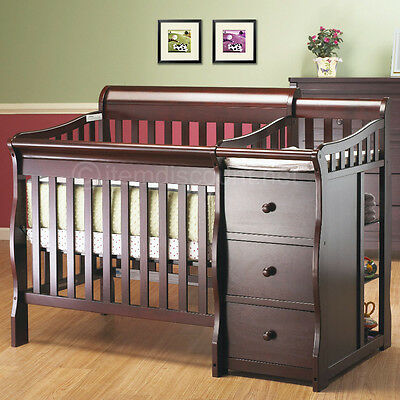 Convertible Baby Crib Nursery Changer Table Toddler Bed Dresser