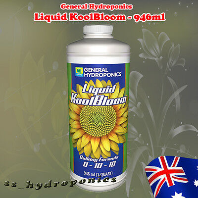 GENERAL HYDROPONICS LIQUID KOOLBLOOM 946ml 1QRT For Plant Blooming