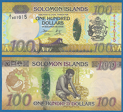 Solomon Islands 100 Dollars P New 2015 UNC Low Shipping! Combine FREE! P-36