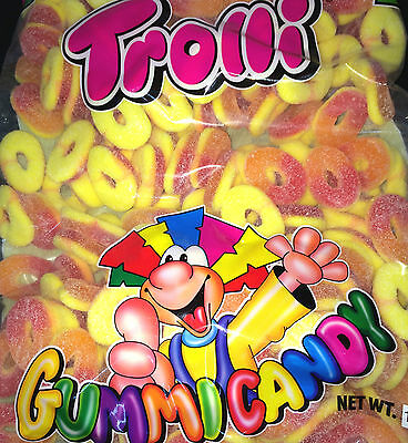 TROLLI SOUR PEACH RINGS 1.5KG Gummy yellow peach orange Halloween lollies