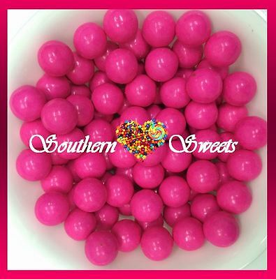 Pink Candy Coated Choc Balls 1Kg Crunchy Pink Lollies Choc Centre