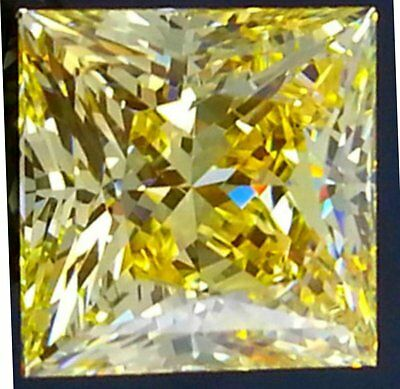 3 ct. Princess Canary Cut Top Russian Quality CZ Moissanite Simulant 8.25  mm