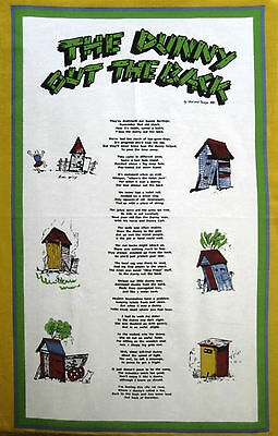 Australia Souvenir Kitchen Tea Towel - The Dunny Out The Back - Toilet