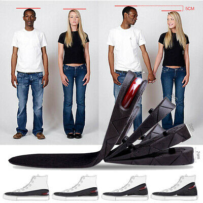 7CM Air Cushion Heel Insert Increase Taller Height Lift Shoes Insole Pad for Man