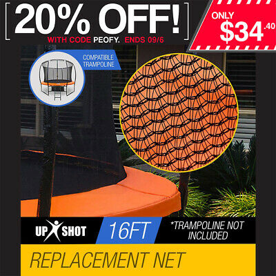 Up-Shot Replacement Trampoline Inside Safety Net Spare Enclosure 16ft 12 Pole