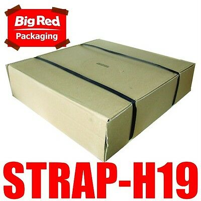 19mm x 1000m Black Heavy Band Poly Strap 400kg load Strapping Packing
