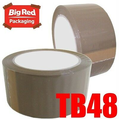 36 x Budget Brown Packaging Packing Sticky Tape 48mm x 75m Bulk Buy