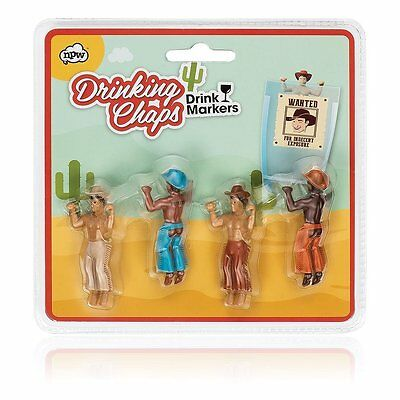 Drinking Chaps Drink Markers NPW 4 Cowboys Gay Celebrate Day Wine Party Buddies