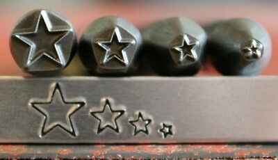 SupplyGuy Advantage Series Star 4 Metal Design Stamp Set - Made in USA - SGAD-4