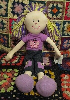 "* ""SARAH""  42cm RAG DOLL in Mauve clothes *"