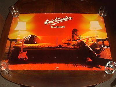 "Rare Vintage ERIC CLAPTON ""BACKLESS"" 1978 RSO RECORDS PROMO POSTER"