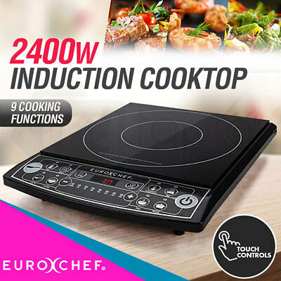 EURO-CHEF Electric Induction Portable Cooktop Ceramic Hot Plate Kitchen Cooker