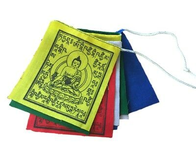 Hands of Tibet Mini Medicine Buddha Prayer Flags - set of 10