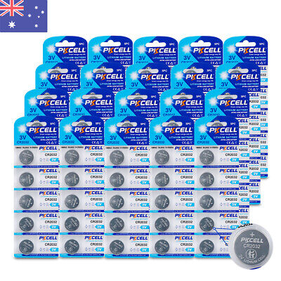 100 CR2032 3V Lithium Remote Control Batteries DL2032 5004LC Button Coin Cell