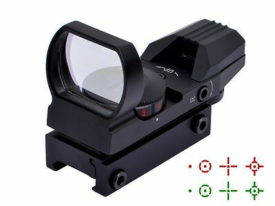 Tactical Reflex Holographic 4 Reticle Red Green Dot Sight Picatinny Weaver Rail