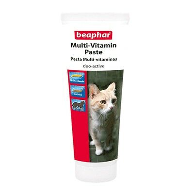 Beaphar Cat Kitten Multi Vitamin Healthy Coat Paste Treat Snack 100g