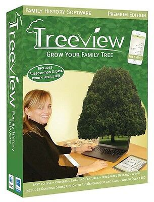TreeView 2 Family History Genealogy Software - Premium Edition