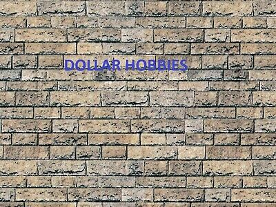 280Mm X 200Mm 0 Gauge Self Adhesive Brick Wall Paper Sheets (See Pic 2)