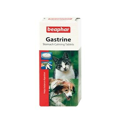 Beaphar Dog Cat Puppy Kitten Stomach Calming Gastrine Magnesium Tablets 30 Tabs