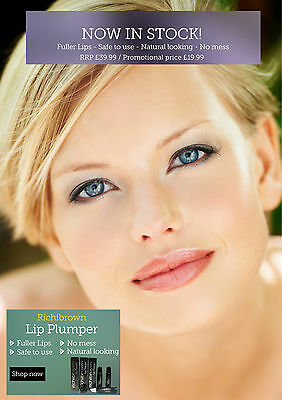 Richibrown Lip Plumper Proved Clinically to give you much Fuller Firmer Lips