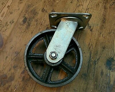 "6"" Cast iron Castor Industrial swivel caster Heavy duty for industrial furniture"