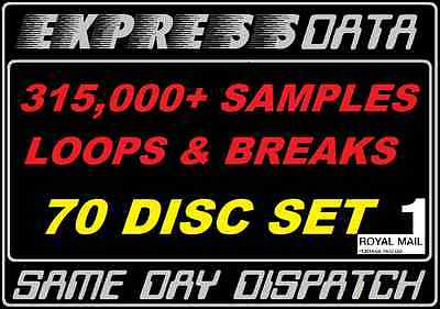 SAMPLES, LOOPS & BREAKS ARCHIVE -70 DISCS-300GB Pro Studio Music Producer Sounds