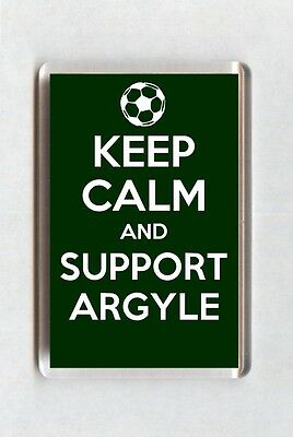 Keep Calm And Support Football Fridge Magnet - Plymouth Argyle