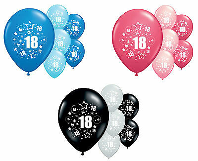 "8 X 18th BIRTHDAY BALLOONS 12"" HELIUM QUALITY PARTY DECORATIONS (PA)"