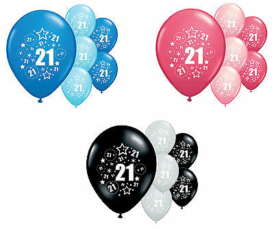 """10 X 21St Birthday Balloons 12"""" Helium Quality Party Decorations (Pa)"""