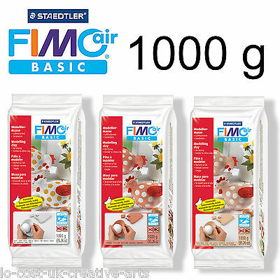 STAEDTLER FIMO AIR BASIC 1000g AIR DRYING MODELLING CLAY 1kg BLOCK - ART & CRAFT