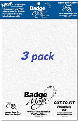 3Pack Badge Magic Patch Bond Attach Fabric Adhesive Scouting Military - Best Buy