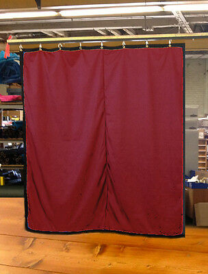 Burgundy Curtain/Stage Backdrop/Partition, Non-FR, 10 H x 10 W
