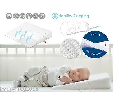 Ergonomic Baby Infant Newborn Safety Wedge Pillow Prevents Reflux, Flat Head