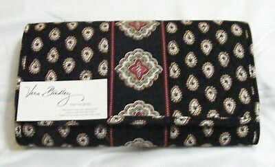 Vera Bradley CLASSIC BLACK CD DvD Case FOR Car END TABLE Any Room VERY RARE NWT