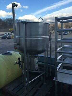 "Groen Kettle Steam Jacketed 100 Gallon Kettle With 3"" Pneumatic Discharge Valve"