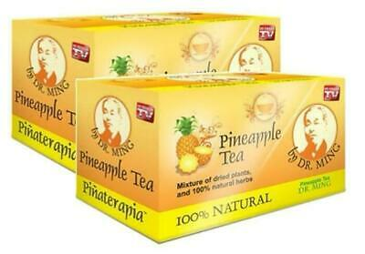2 Boxes DR MING PINA Tea (30 Bags) Dr  Ming Pineapple Chinese Weight Loss te