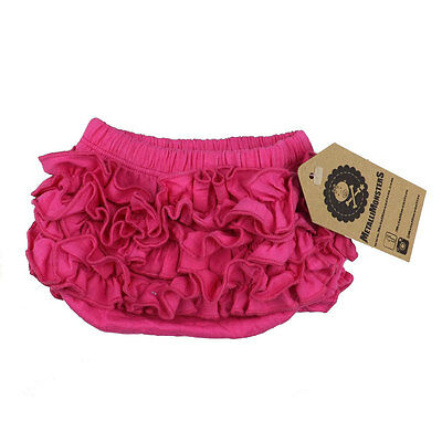 Metallimonsters plain pink ruffle baby bloomers alternative rock metal goth