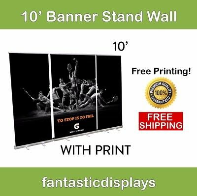 10ft. ECONO+ Banner Stand Wall (3 Banner Stands with Prints Included)
