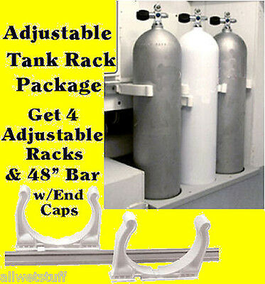 Scuba Tank Rack adjustable boat storage roll controll Max Rax racks
