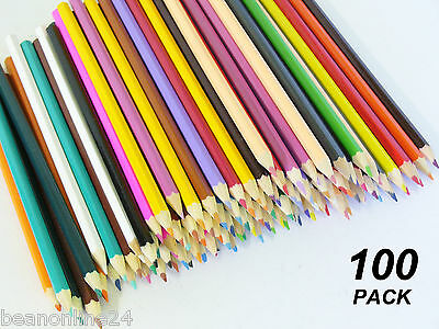 Bulk 100 Pack Coloured Pencils